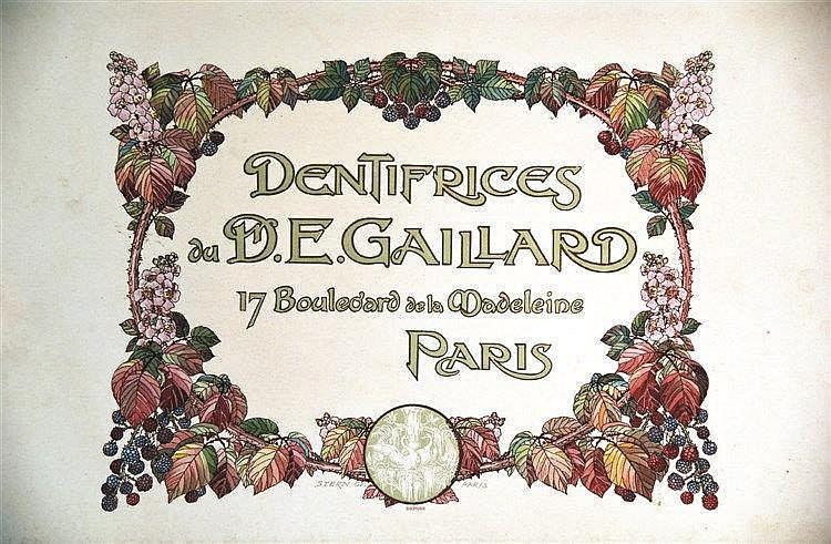 STERN  Dentifrices du D. E. Gaillard     vers 1900