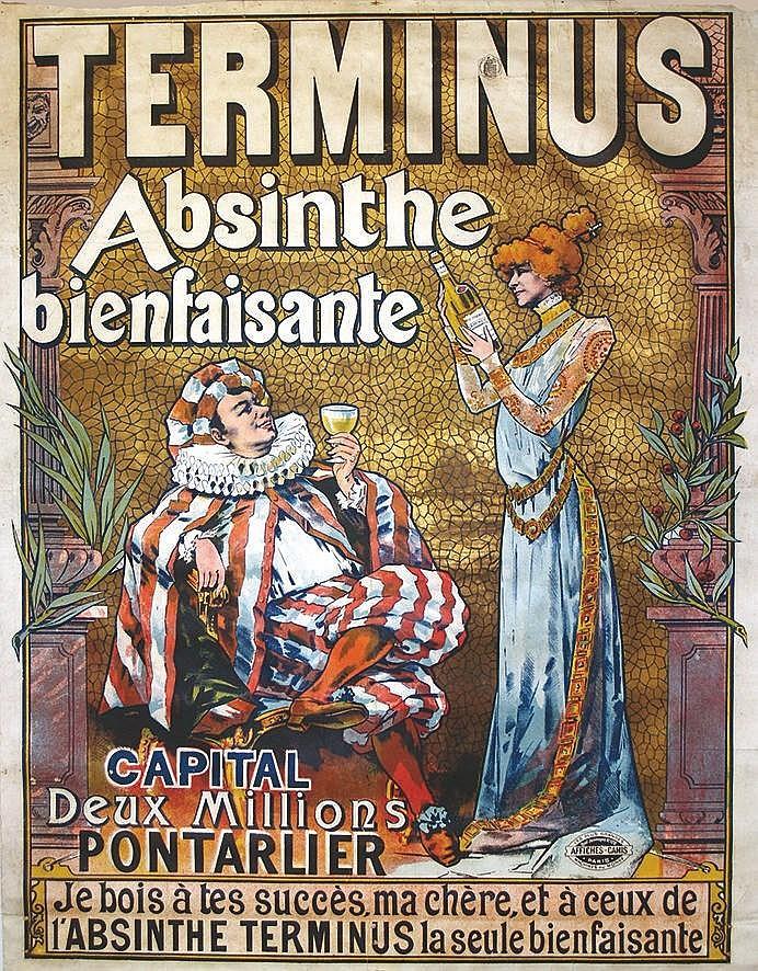 BATTISTINI J.  Terminus Absinthe Bienfaisante     vers 1900