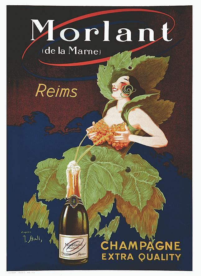 STALL  J.  Morlant - Champagne -  Reims - Très Rare, very Rare     vers 1900  Reims (Marne)