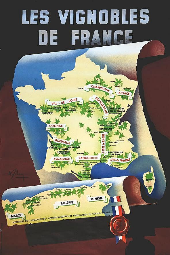 SOLON  Vignobles de France     vers 1950
