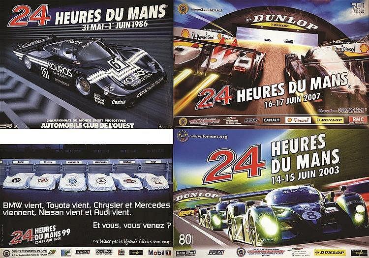 Lot de 10 Affiches sur Les 24 Heures     1997 à 2007