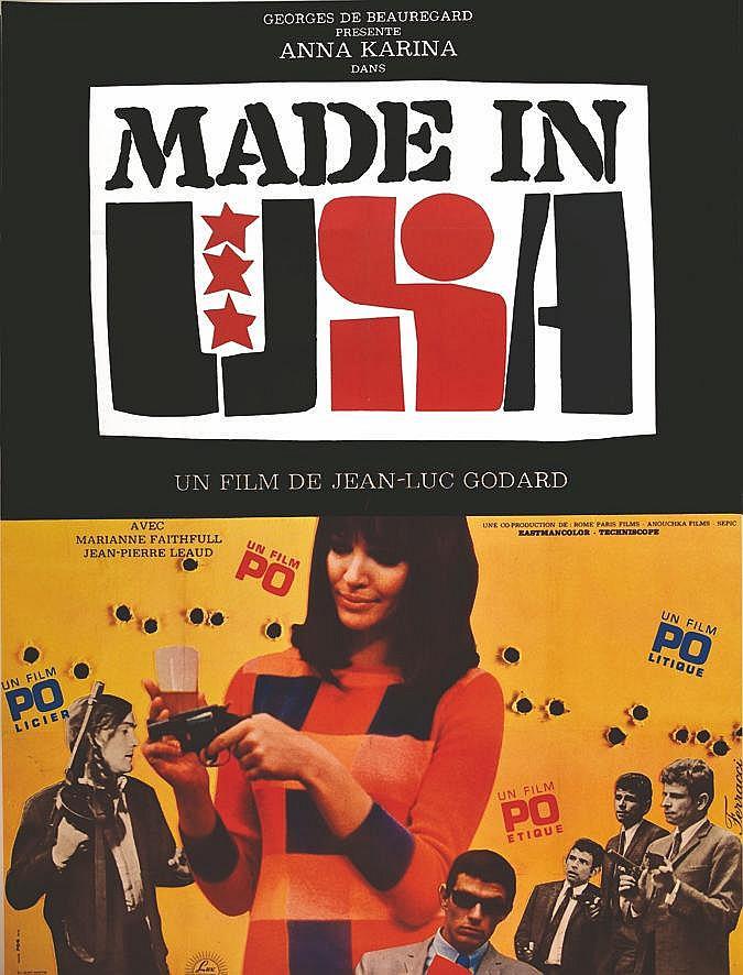 PUBLICITE FOG  Made in U.S.A - Jean Luc Godard     1966