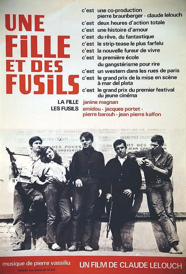 Une Fille et des Fusils - Claude Lelouch     1964