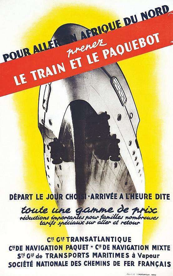 Pour aller en Afrique du Nord SGTM vers 1930 Marseille (Bouches-du-Rhône)