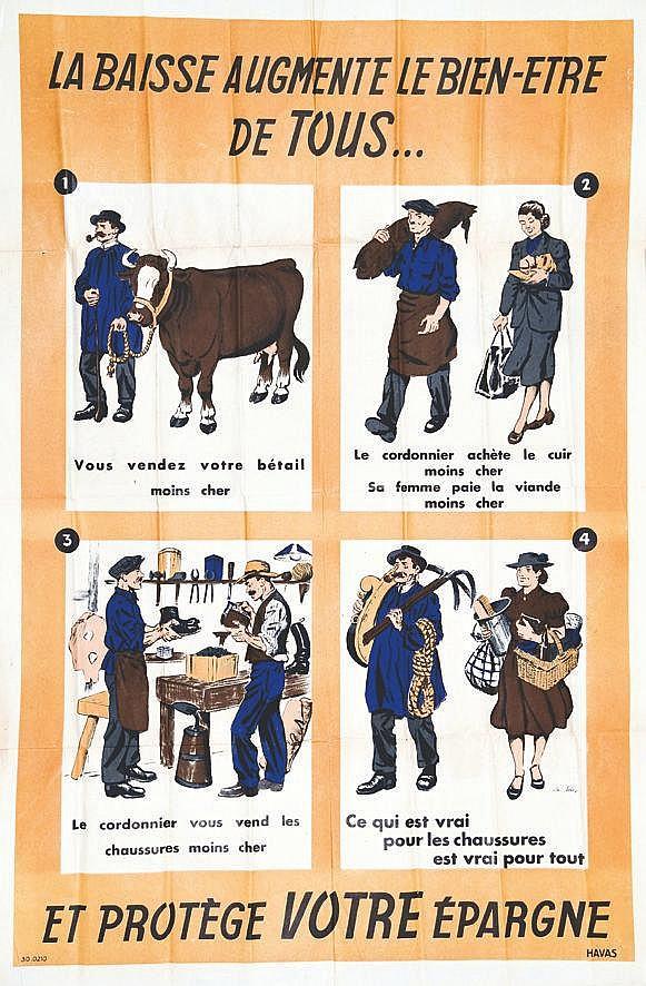 LA SELVE  La Baisse augmente le bien-être de tous et protège votre Epargne     vers 1950
