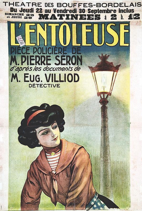 L'Entoleuse - moitiée d'affiche vers 1900