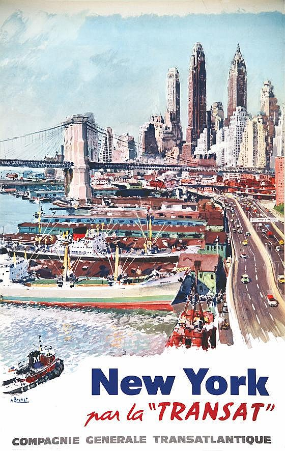 BRENET New York par la Transat vers 1960