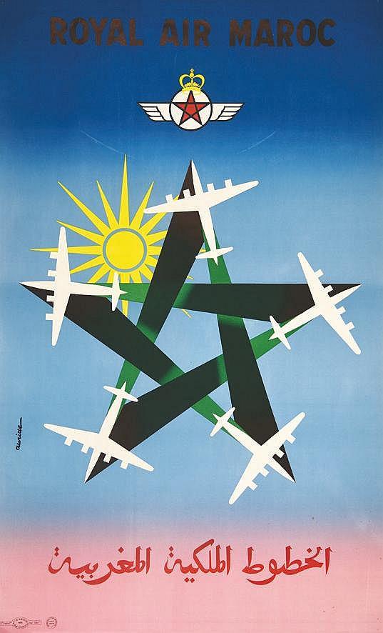 AURIAC  Royal Air Maroc     vers 1950