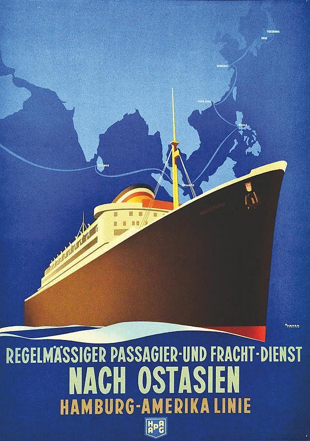 ANTON  Extrème Orient - Nach Ostasien - Hamburg - Amerika Linie     vers 1930