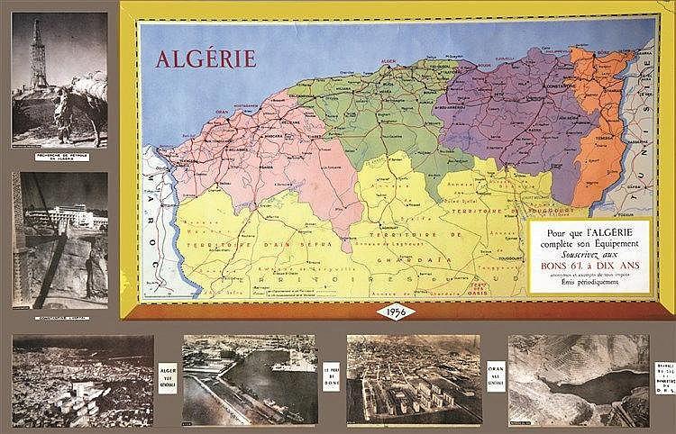 Pour que L'Algérie complète son équipement sosucrivez aux Bons 6 %     1956
