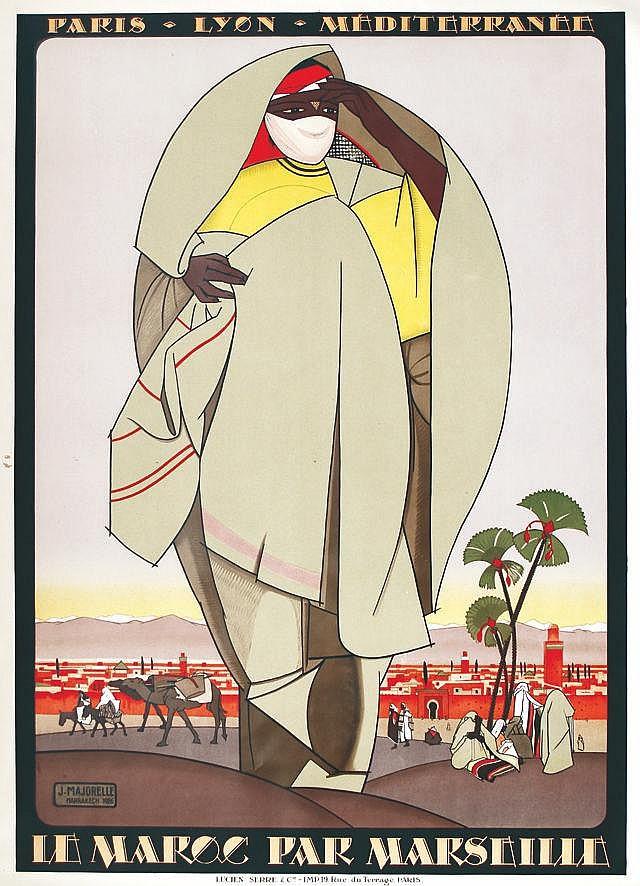 MAJORELLE Le Maroc par Marseille 1929