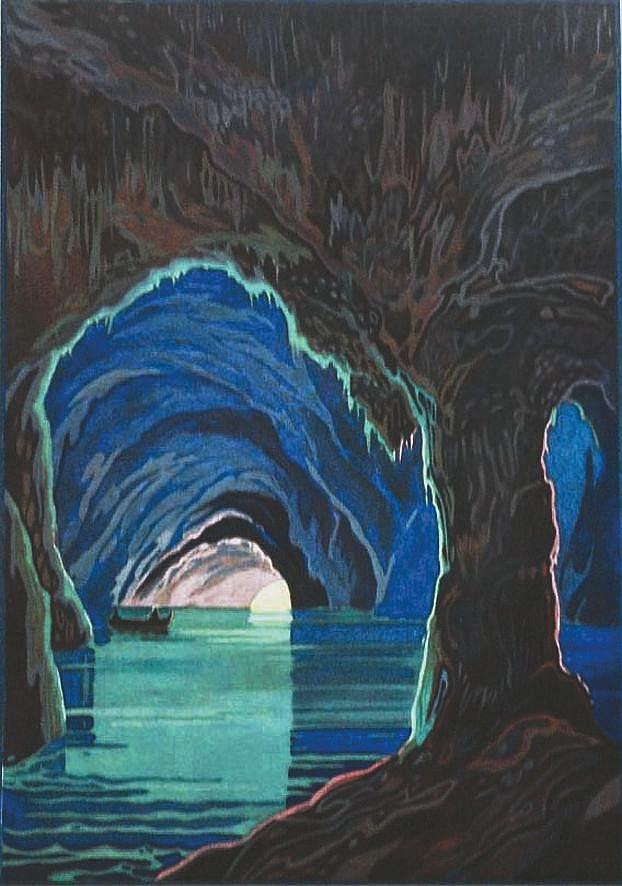 Capri - Grotta Azura à Capri Maschio Angioino Napoli     vers 1930