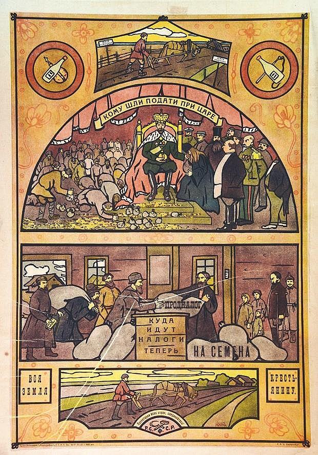 Affiche Soviètique     vers 1920