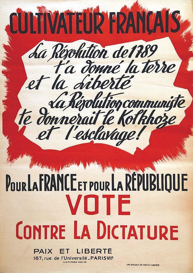 Cultivateur Français     vers 1950