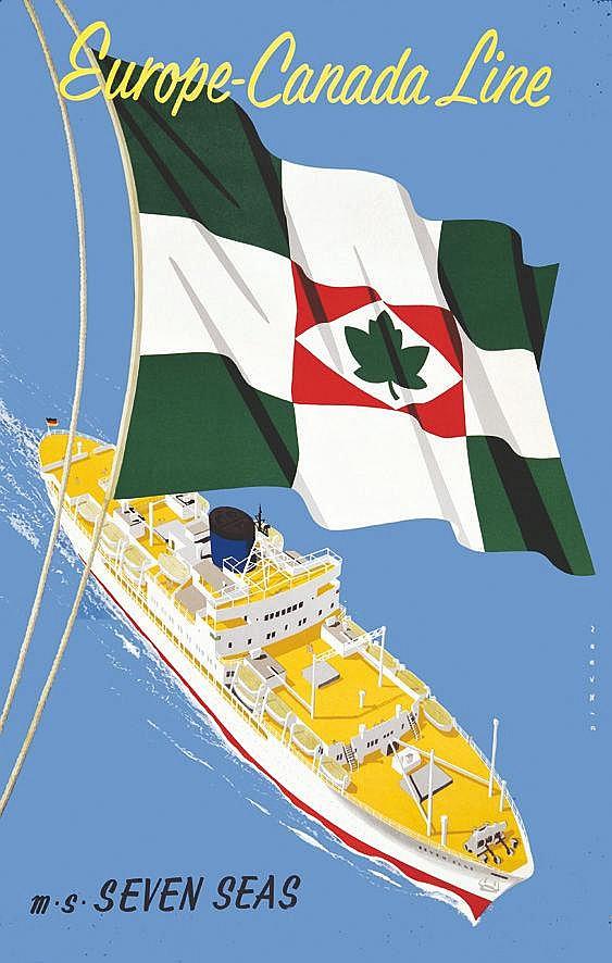 DIRKSEN REYN  Europe Canada Line - Seven Sea     vers 1950