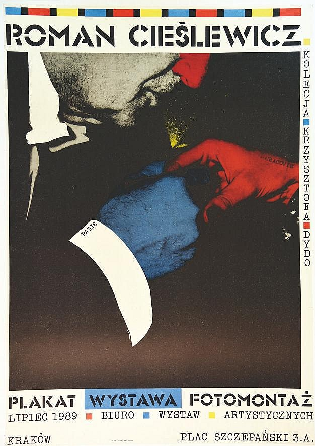 CIESLEWICZ ROMAN  Roman Cieslewicz Plakat Wystawa Fotomontaz Krakow     vers 1970