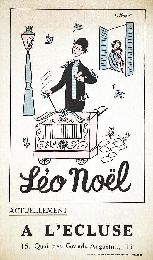 PEYNET RAYMOND  Léo Noël à L'Ecluse     vers 1950