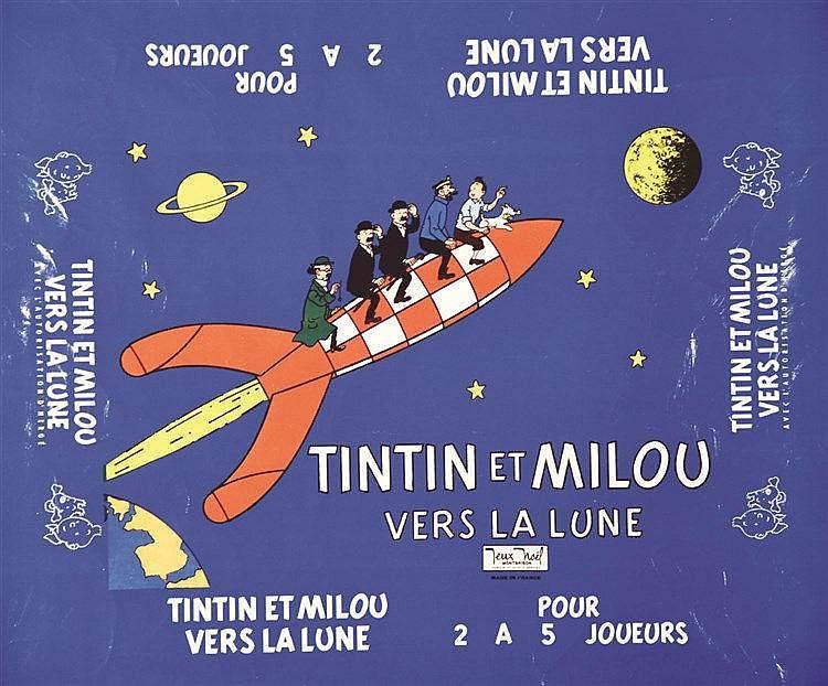 HERGE  Tintin Milou vers La Lune     1957