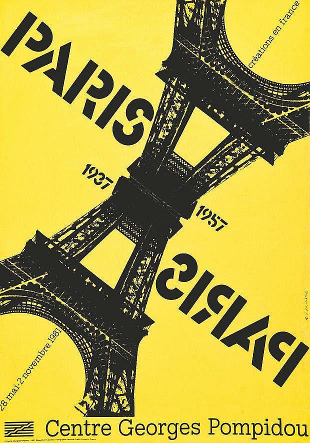 CIESLEWICZ ROMAN  Paris 1937 - 1957     1981