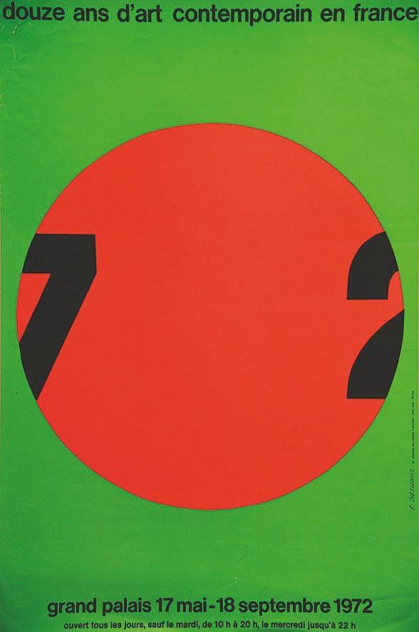 CIESLEWICZ ROMAN 12 ans d'Art Contemporain en France 1972