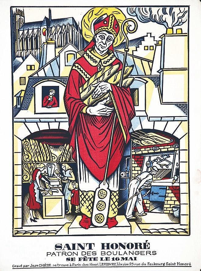 CHIEZE JEAN  Saint Honoré Patron des Boulangers 16 Mai     vers 1930