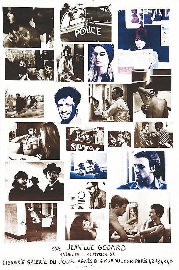 Sur Jean Luc Godard -Librairie  Galerie du Jour Agnès B     1986