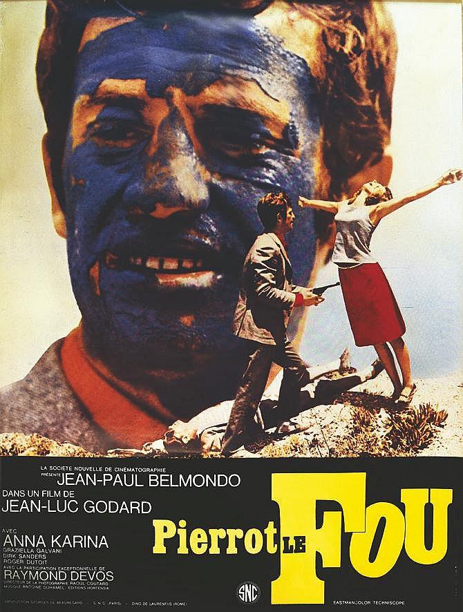 Pierrot Le Fou de Jean Luc Godard     vers 1970