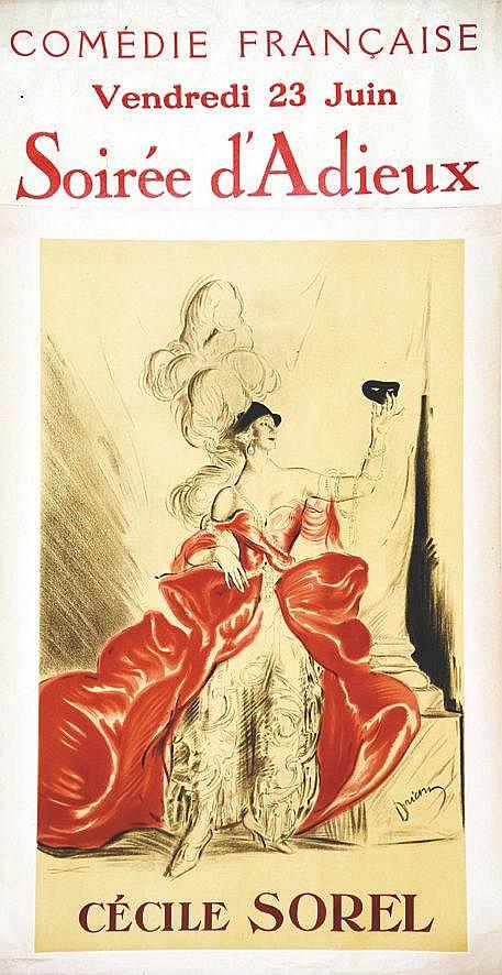 DRIAN  Cécile Sorel - Soirée d'Adieu     vers 1930