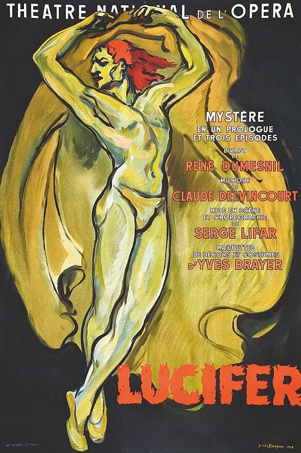 BRAYER YVES  Lucifer Théâtre National de L'Opéra     1948