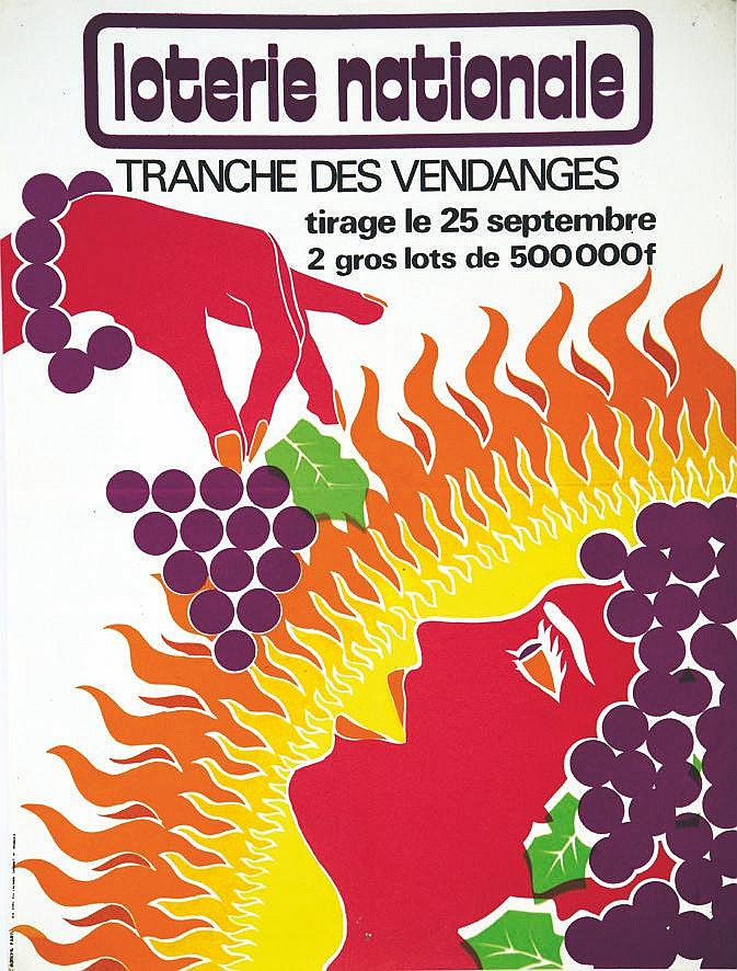 Tranche des Vendanges - Loterie Nationale     vers 1960