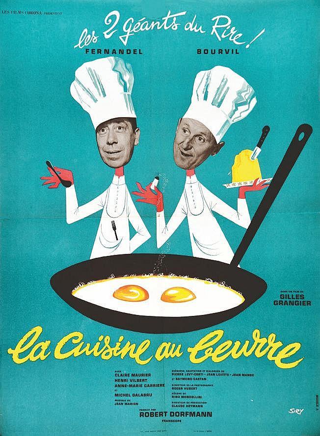 SIRY La Cuisine au Beurre Fernandel & Bourvil 1963
