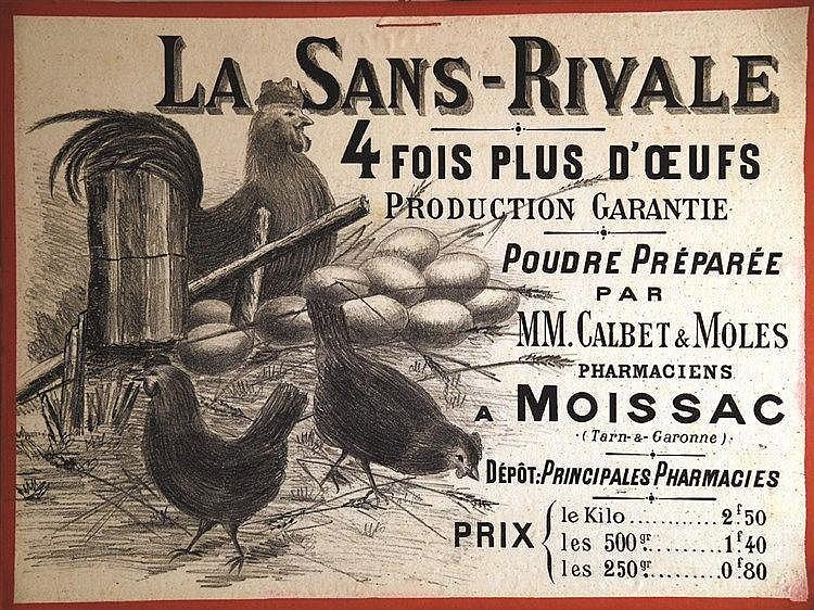La Sans Rivale M. Calbet & Moles      vers 1900  Moissac ( Tarn & Garonne )