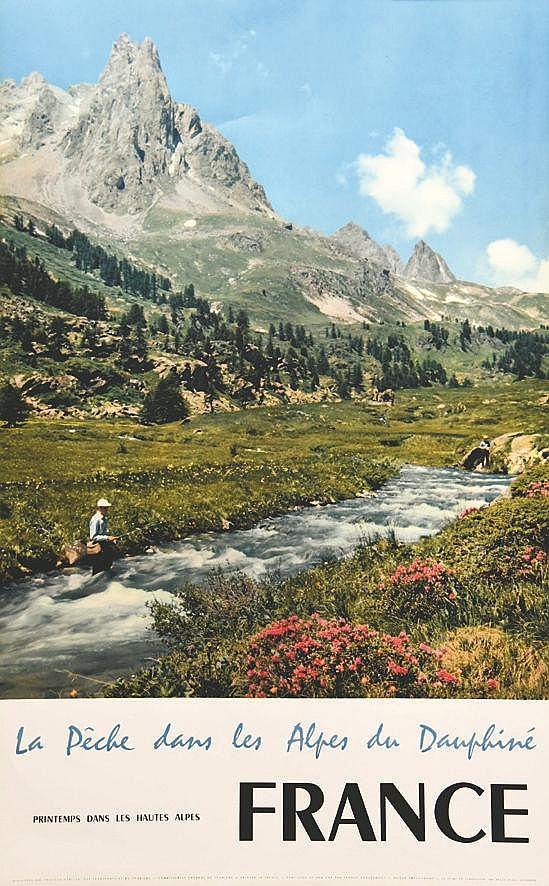 La Pêche dans les Alpes du Daiphiné     1959