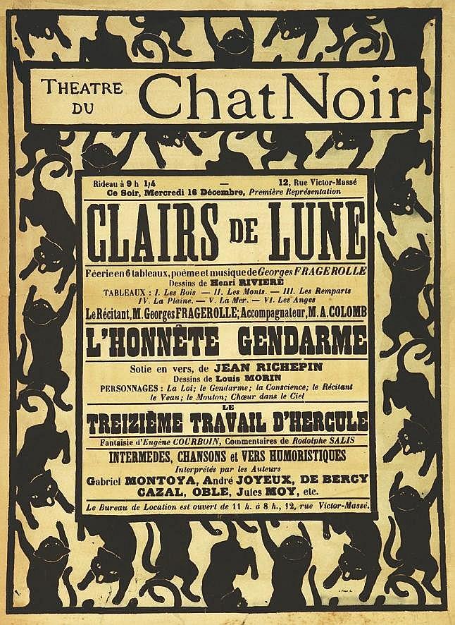Theatre du Chat Noir - Clairs de Lune vers 1900