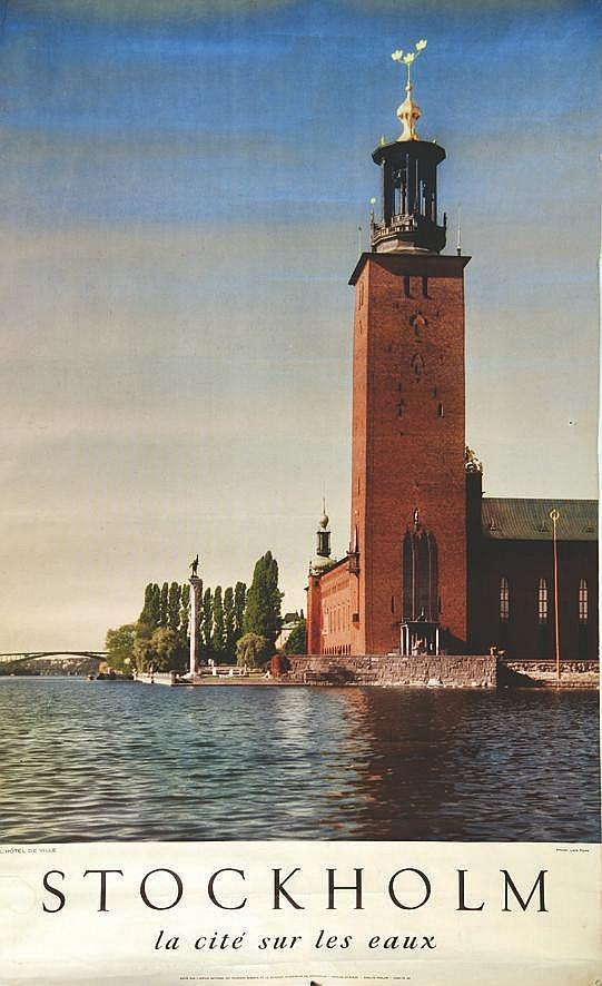 PHOTO : LARS RYDE  Stockholm La cité des eaux     vers 1950