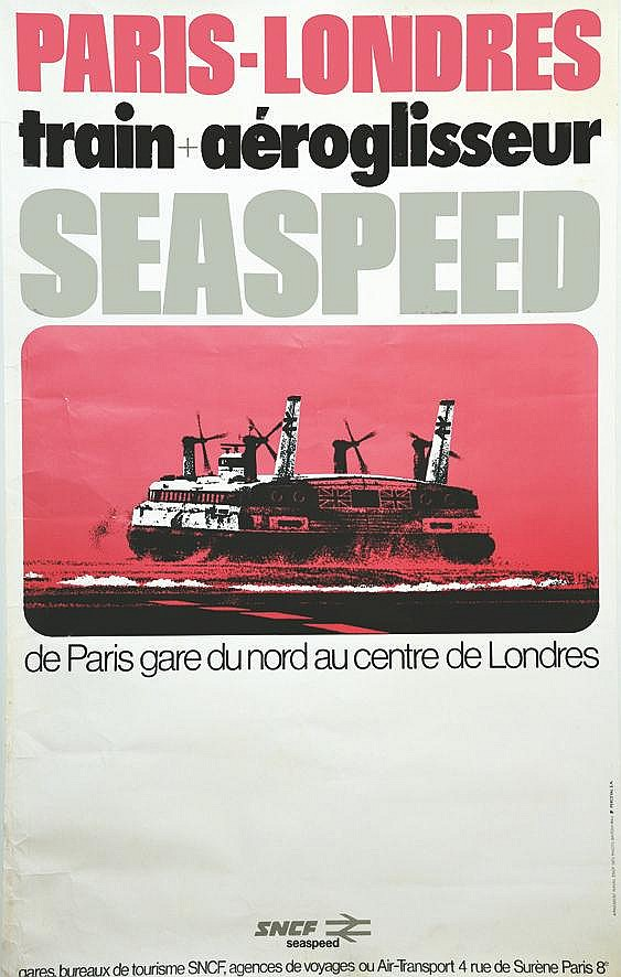 Seaspeed Paris Londres 1975