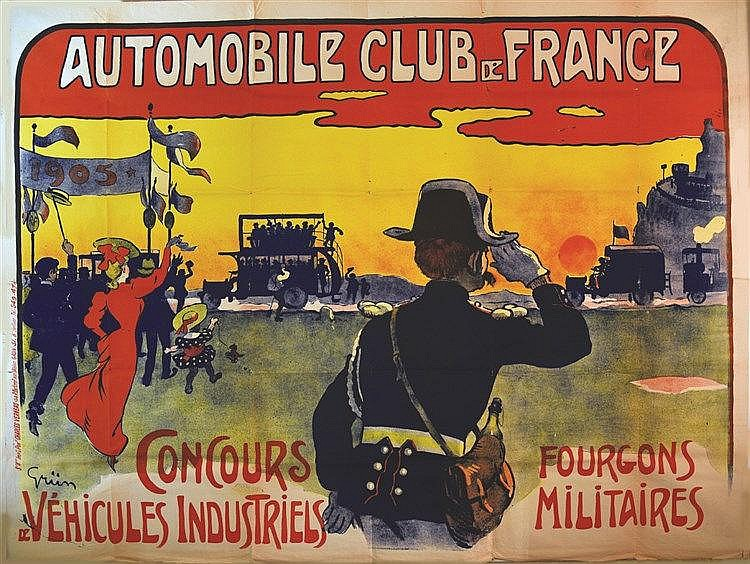 GRÜN  Automobile Club de France     vers 1900