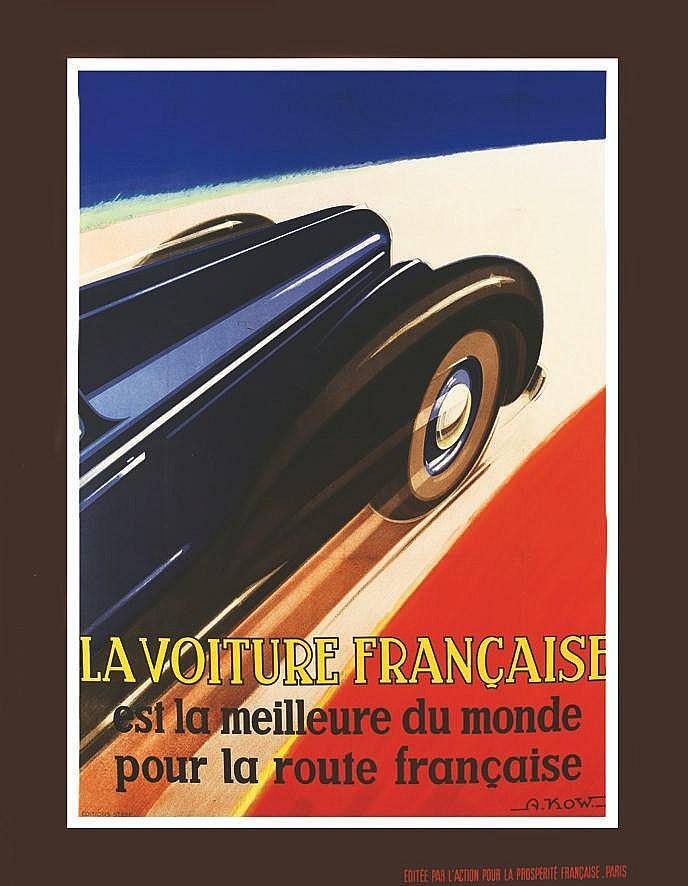 KOW ALEXIS  La Voiture Française  est La Meilleure Du Monde Pour La Route Française     vers 1930