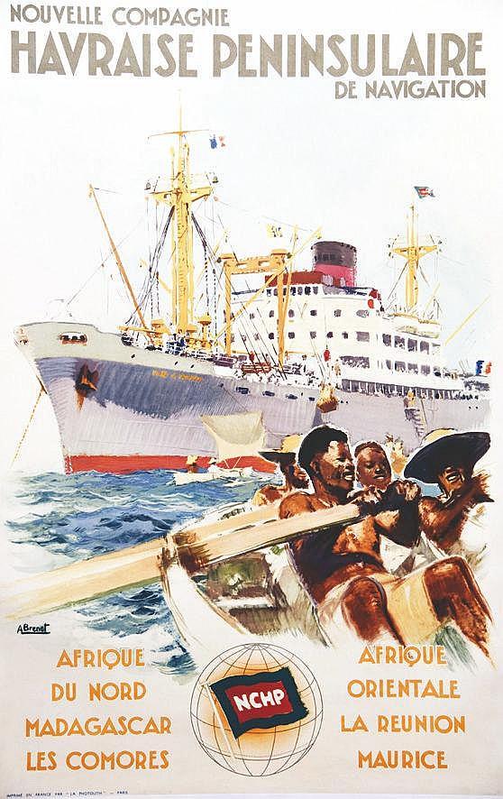 BRENET ALBERT  Nouvelle Compagnie Havraise Peninsulaire de Navigation     vers 1950