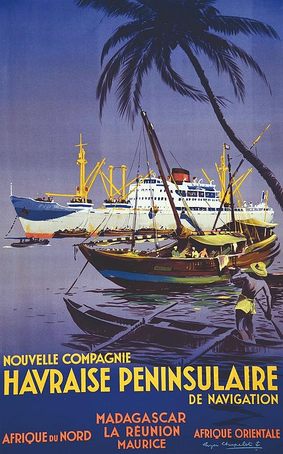CHAPELET ROGER  Nouvelle Compagnie Havraise Peninsulaire de Navigation     vers 1950