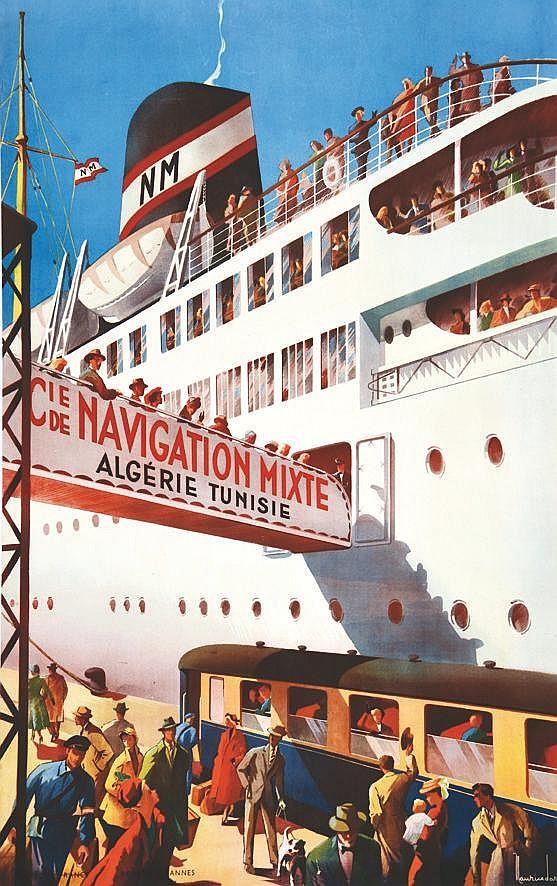 DARD MAURICE  Cie de Navigation Mixte Algérie Tunisie      vers 1950