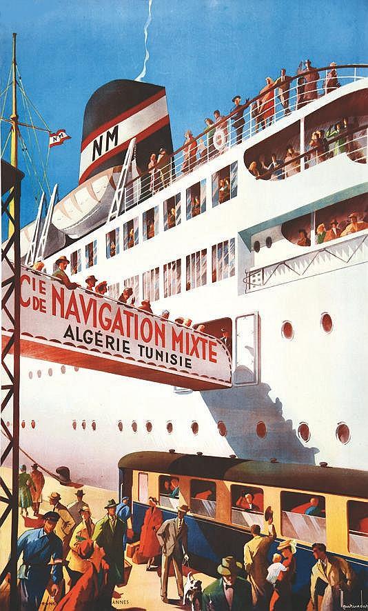 DARD MAURICE  Algérie Tunisie - Cie de Navigation Mixte     vers 1950