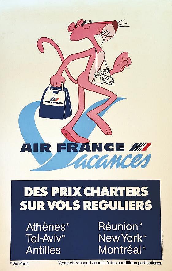 Air France Vacances ( Panthère Rose )     1980