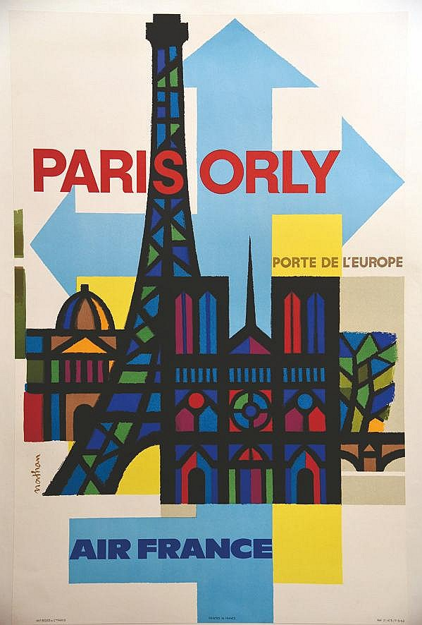 NATHAN  Paris Orly Porte de l'Europe     1962