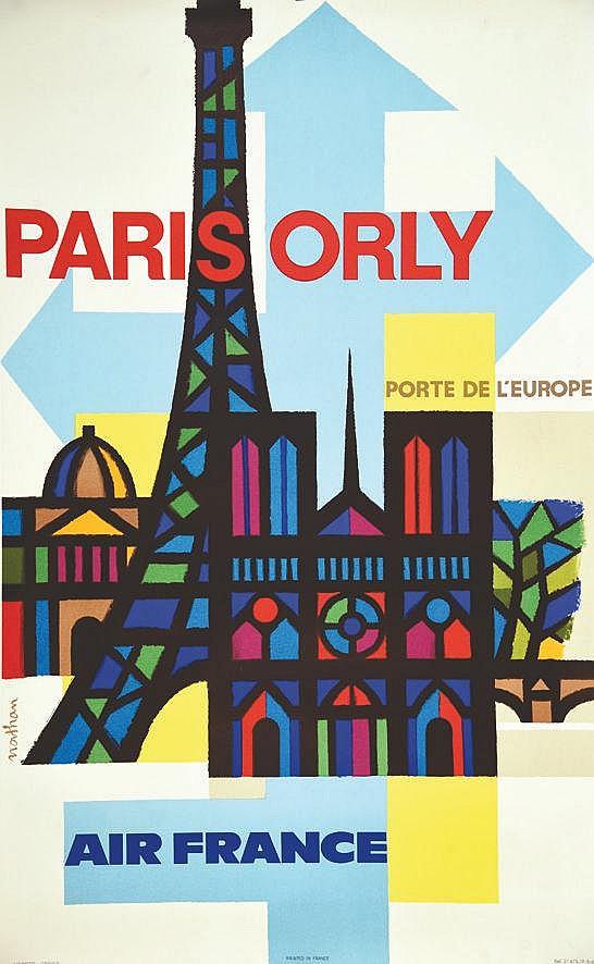 NATHAN  Pary Orly Porte de L'Europe     1962