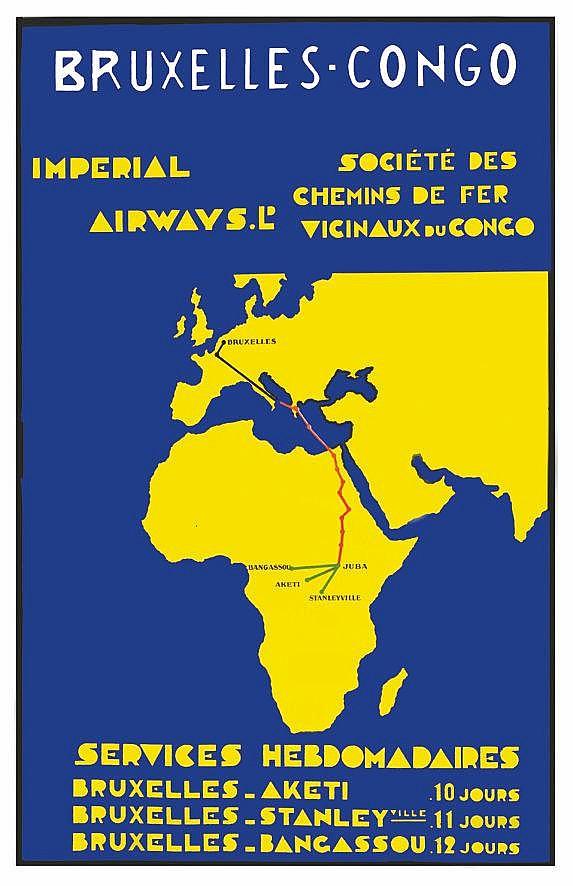 Bruxelles Congo - Impérial Airways vers 1930