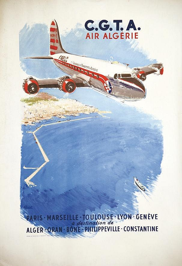BRENET ALBERT CGTA Air Algérie vers 1950