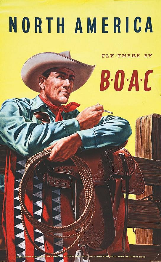 HAYES  North America Fly there by BOAC     1953