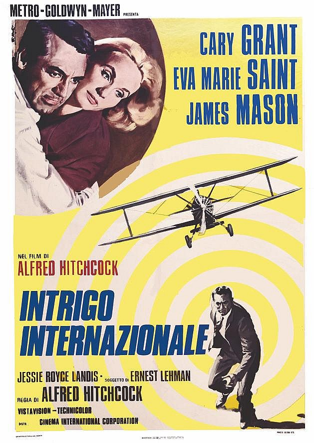 Intrigo Internationale ( North by Northwest ) ( La Mort aux Trousses ) by Alfred Hitchcock 1976