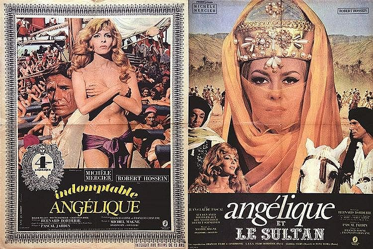 FERRACCI  Lot de 2 Aff/ Poster : Indomptable Angélique Angélique & le Sultan     1967